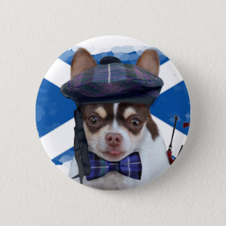Scottish Chihuahua dog button