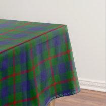 Scottish Clan Agnew Red Green Blue Tartan Tablecloth