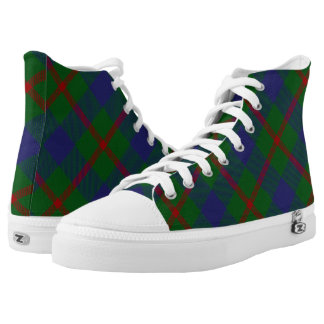 Scottish Clan Agnew Tartan Plaid Printed Shoes