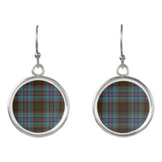 Scottish Clan Anderson Tartan Plaid Earrings