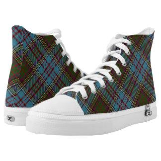 Scottish Clan Anderson Tartan Printed Shoes