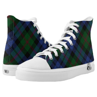 Scottish Clan Baird Tartan High Tops