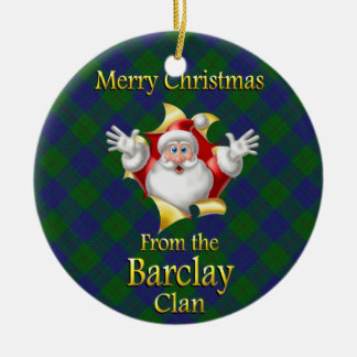 Scottish Clan Barclay Christmas Ornament