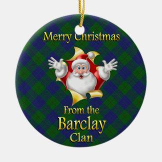 Scottish Clan Barclay Christmas Ornament