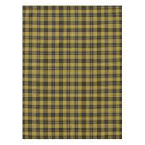 Scottish Clan Barclay Dress Yellow Black Tartan Tablecloth