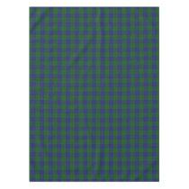 Scottish Clan Barclay Hunting Green Blue Tartan Tablecloth