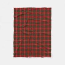 Scottish Clan Bruce Classic Tartan Fleece Blanket