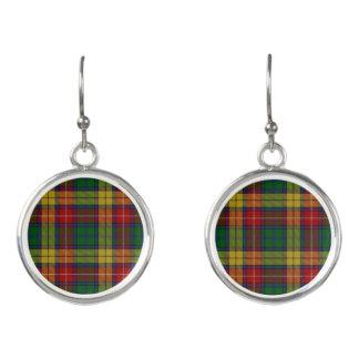 Scottish Clan Buchanan Tartan Plaid Earrings