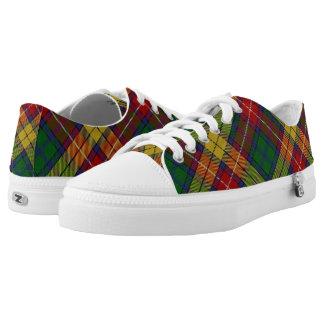 Scottish Clan Buchanan Tartan Printed Shoes