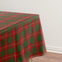 Scottish Clan Cameron Red and Green Tartan Tablecloth