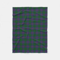 Scottish Clan Carmichael Classic Tartan Fleece Blanket