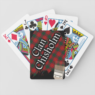 Scottish Clan Chisholm Tartan Paint Brush Bicycle Playing Cards