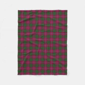 Scottish Clan Crawford Classic Tartan Fleece Blanket