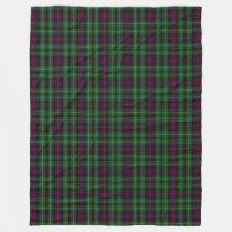 Scottish Clan Cunningham Classic Tartan Plaid Fleece Blanket