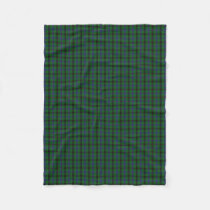 Scottish Clan Davidson Classic Tartan Fleece Blanket