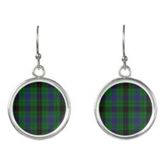 Scottish Clan Davidson Tartan Plaid Earrings