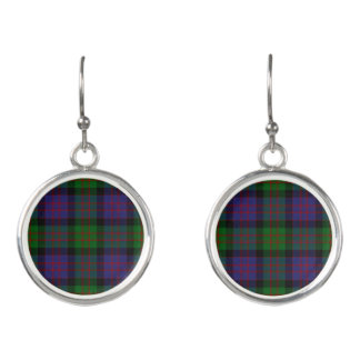 Scottish Clan Donald MacDonald Tartan Plaid Earrings