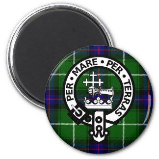 Scottish Clan Donald Tartan and Crest 6 Cm Round Magnet