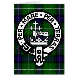 Scottish Clan Donald Tartan and Crest Card