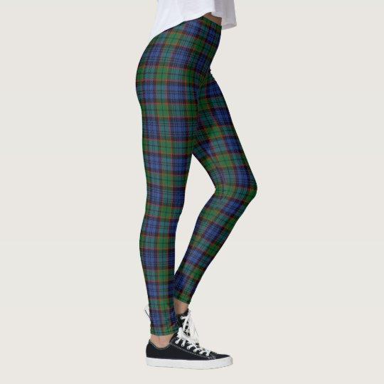Scottish Clan Fletcher Blue and Green Tartan Leggings