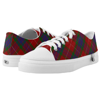 Scottish Clan Fraser Tartan Printed Shoes