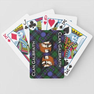 Scottish Clan Galbraith Tartan Deck Bicycle Playing Cards