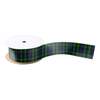 Scottish Clan Graham Classic Tartan Satin Ribbon