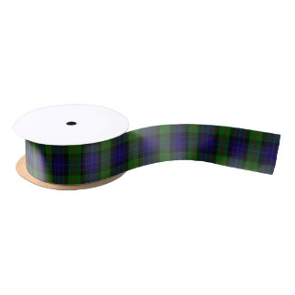 Scottish Clan Gunn Classic Tartan Satin Ribbon