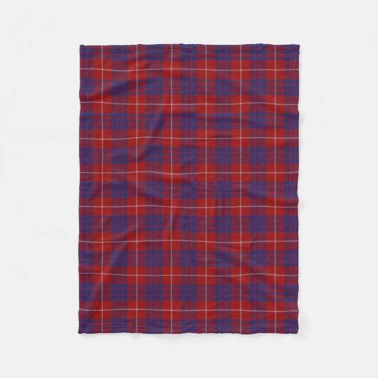 Scottish Clan Hamilton Classic Tartan Fleece Blanket