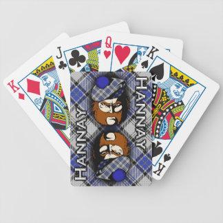 Scottish Clan Hannay Tartan Plaid Bicycle Playing Cards