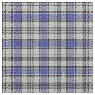 Scottish Clan Hannay White Blue Tartan Fabric