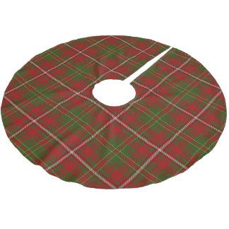 Scottish Clan Hay Red Green Tartan Brushed Polyester Tree Skirt