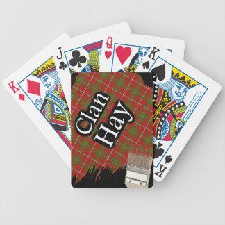 Scottish Clan Hay Tartan Paint Brush Bicycle Playing Cards