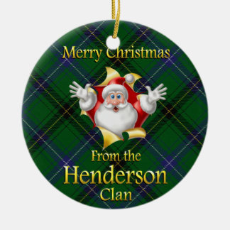 Scottish Clan Henderson Christmas Ornament