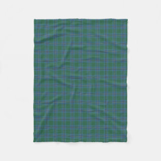 Scottish Clan Irvine Irwin Classic Tartan Fleece Blanket