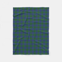 Scottish Clan Johnstone Johnston Classic Tartan Fleece Blanket