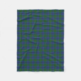 Scottish Clan Johnstone Johnston Classic Tartan Fleece Blanket