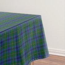 Scottish Clan Johnstone Johnston Tartan Tablecloth
