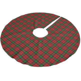 Scottish Clan Kerr Red Green Tartan Brushed Polyester Tree Skirt