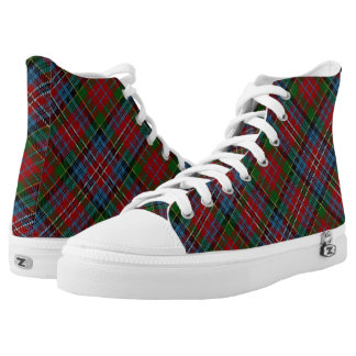 Scottish Clan Kidd Red Green Blue Tartan Plaid Printed Shoes