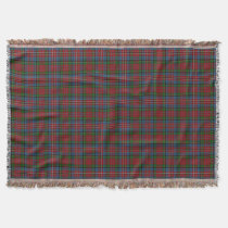 Scottish Clan Kidd Red Green Blue Tartan Throw Blanket