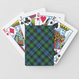 Scottish Clan Lamont Tartan Deck Bicycle Playing Cards