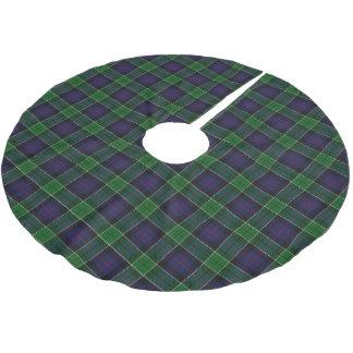 Scottish Clan Leslie Blue Green Tartan Brushed Polyester Tree Skirt