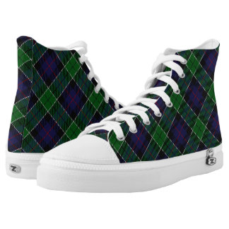 Scottish Clan Leslie Hunting Tartan High Tops