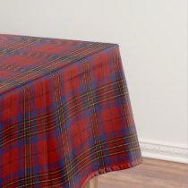 Scottish Clan Leslie Red Tartan Tablecloth