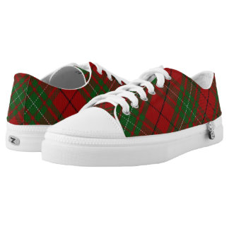 Scottish Clan MacAulay Tartan Low Tops