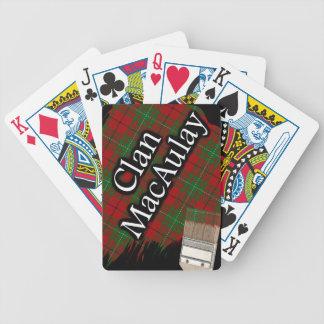 Scottish Clan MacAulay Tartan Paint Brush Bicycle Playing Cards