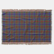 Scottish Clan MacBeth Tartan Plaid Throw Blanket