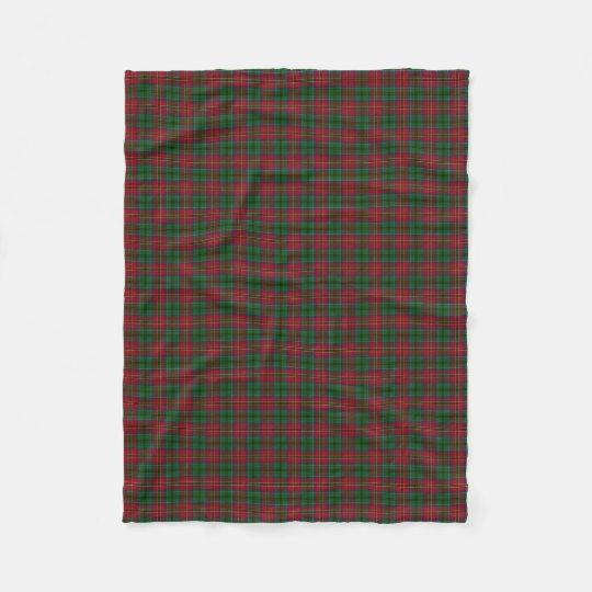 Scottish Clan MacCulloch McCullough Classic Tartan Fleece Blanket