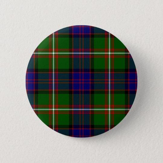 Scottish Clan MacDonald of Clanranald Tartan 6 Cm Round Badge